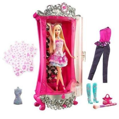 Barbie - Modezauber in Paris - Glitterizer Kleiderschrank - Barbie und viel Zubehör - Neuenkirchen (Kreis Steinfurt)