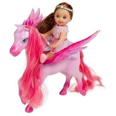 Kleine Barbie Shelly mit Pegasus