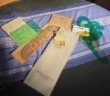 Kunststofftasche mit Schablonen diverser Hersteller 1970 aus der ehemaligen DDR - Zeuthen