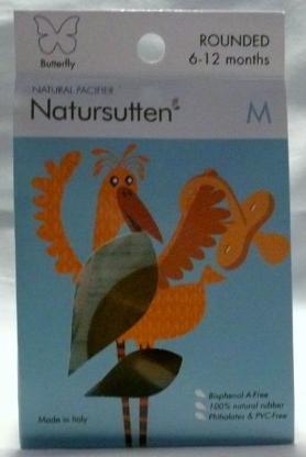 Natursutten Butterfly Rounded Schnuller Gr.M, für 6-12 Monate