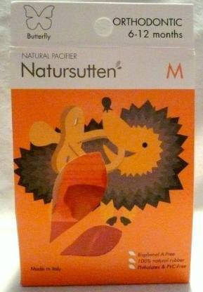 Natursutten Butterfly, Orthodontic, Schnuller, Gr. M, 6-12  Monate