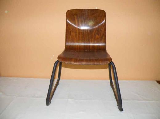 70er Jahre THUR-OP-SEAT Schulstuhl / Stapelstuhl / Kinderstuhl aus Pagholz