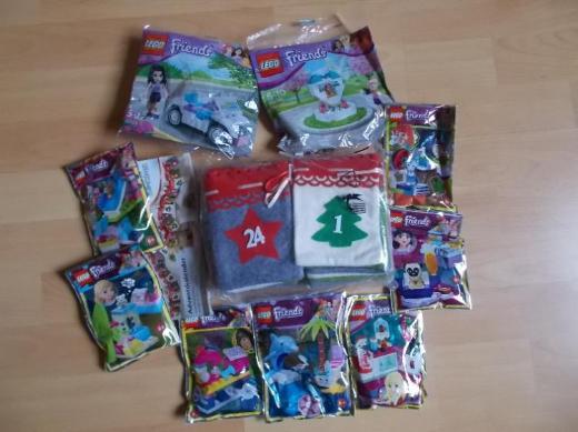 Advents Paket Mädchen : Adventskalender + Lego Friends NEU !
