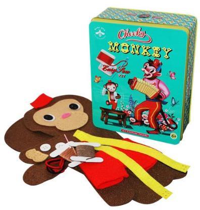 Candy Cotton Monkey Kit - Bastelset Affe - Kuscheltier Affe