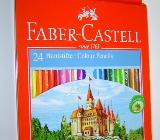 Faber Castell 24 Holzfarben Farbstifte Malfarben L 175mm Ø 7mm Holzstifte Hexagonalform - Bad Krozingen