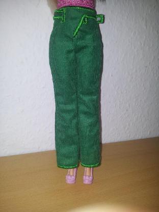 Cord-Hose für die Barbie Puppensachen Puppenkleidung Modepuppe