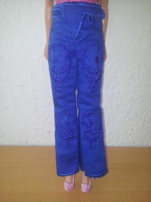 Hose für die Barbie Puppensachen Puppenkleidung Modepuppe