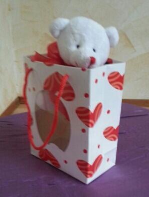 Geschenk Tasche & Herzbärchen