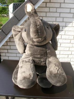 Sigikid Plüsch Elefant Kuscheltier Plüschtier Stofftier 115 cm grau 149,-
