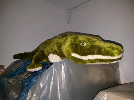 RESERVIERT Krokodil aus Stoff Kuscheltier VERKAUFSWARE