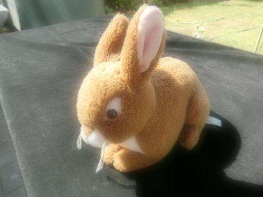 WWF Hase Plüschtier Stofftier Kuscheltier braun Bon Ton Toys 4,-