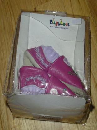 playshoes Babyschuhe Mädchen lila pink Gr. 17 echt Leder made in Germany – 383