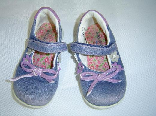 Bobbi Shoes Mädchen Kinder Schuhe Jeans mit lila, Gr. 24 Ballerinas – 569