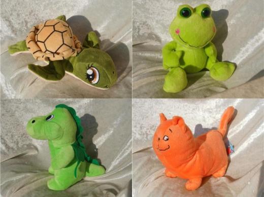 Kuscheltier FroschDrache DinosaurierStofftier DinoKatze orange grünSchildkröte Plüschtier