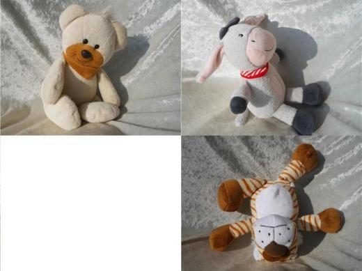 Kuscheltier ESEL grau PlüschtierTiger Teddybär StofftierSchlenkerbär creme weiss Bärchen Teddy Bär