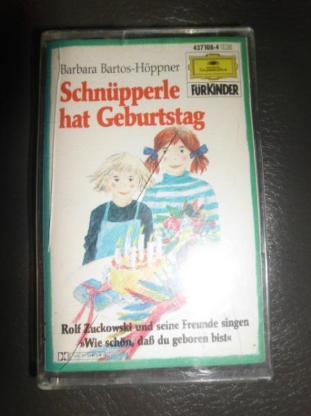 Schnüpperle hat Geburtstag MC Barbara Bartos-Höppner Deutsche Grammophon Kassette für Kinder ab 4 Jahren 4,-