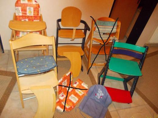 Einzeln zu bekommen: Geuther,Herlag,Roba,Hochstühle,Treppen/-3in1Kombi-Stuhl,mitwachsend,Holz Buche+ bunt