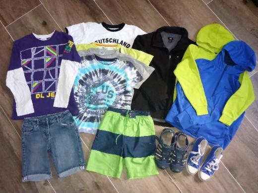 Pullover T-Shirts Shorts 134 140 146, Schuhe 33 35  uvm.