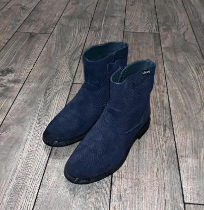 Billowy Stiefel Gr. 35, dunkelblau, ungefüttert - Wie neu