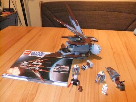LEGO Star Wars Set 7752 Clone Wars Count Dookus Solar Sailer