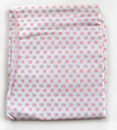 Stoff rosa geblümt seidig glänzend mit flanellartiger Rückseite