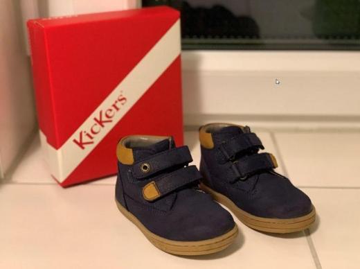 Kickers Baby Jungen Tackeasy Lauflernschuhe, Farbe Blue Marine