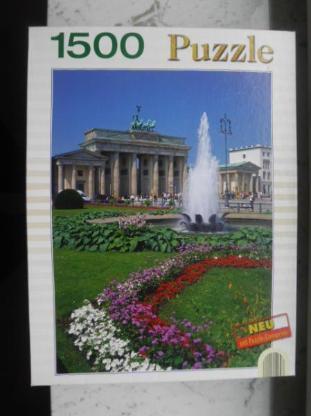 1500 Teile Puzzle Stadt Berlin Brandenburger Tor Bookmark Verlag 2006, 4,-