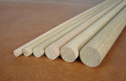 Holzstäbe Rundstab Eiche Länge 1000mm Durchmesser 8, 10, 12, 16, 20, 25 oder 30 mm ab 2,10 Euro