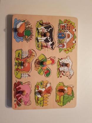 Puzzle Kinderpuzzle Tierstimmen Bauernhof