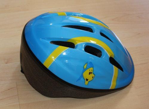 Hudora Kinder Fahrradhelm Schutzhelm Dino Joey Monsun Sturzhelm Kinderhelm Radhelm blau Gr. 52-54 M