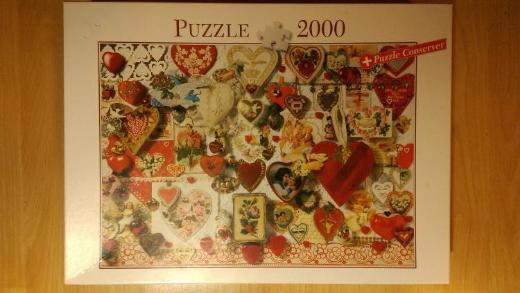"""Puzzle Herzen, """"Herzallerliebst"""", 2.000 Teile"""
