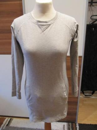 Shirtkleid/Longpullover, grau, Größe 164, alive, neuwertig