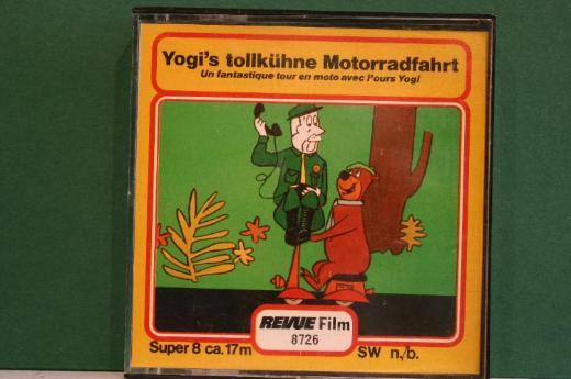 Trickfilm super8, Yogi`s tollkühne Motorradfahrt.  Nr.9627