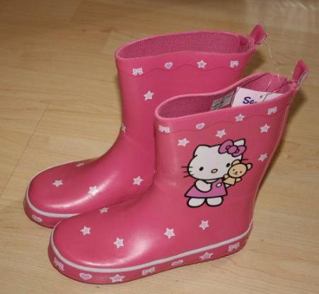 Hello Kitty Mädchen Gummistiefel Kinder Regenstiefel Gartenstiefel Matschstiefel pink rosa Gr. 31 NEU