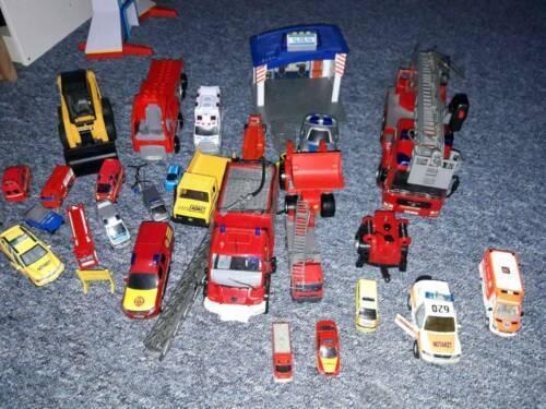 Polizei Feuerwehr verschiedene Autos Spielzeugautos