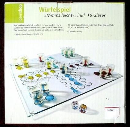 """Würfelspiel """"Nimms leicht"""" inkl.16 Gläser"""