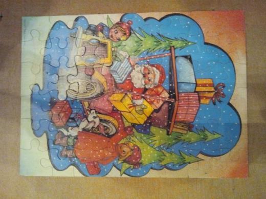 Weihnachtsmann Puzzle Copyright: Top & Twel BV (NL) circa 30 Jahre alt in 1A Sammlerzustand VERKAUFSWARE