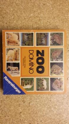Zoo Domino 1971 Ravensburger 605 5 004 2 22_36 Spieler 2-6 Alter 4-10 VERKAUFSWARE