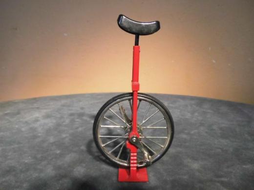 Modellfahrrad Einrad Diecast / funktionsfähiges Modellrad / sehr schön