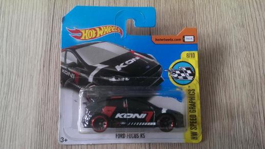 Hot Wheels 2017 HW Speed Graphics #8/10 Ford Focus RS (schwarze Version) NEU & OVP