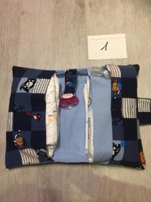 Windeltasche mit Schnullerband, Pirat 1, neu, Handarbeit, Wickeltasche