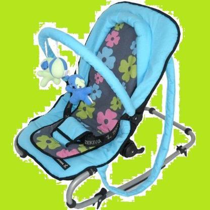 Zekiwa Babywippe happy flower pink blau - neu + unbenutzt -...