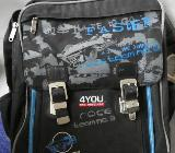 Schulranzen, Schulrucksack, 4You Classic plus, Raceteam, schwarz blau in 89346