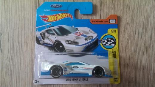 Hot Wheels 2017 HW Speed Graphics #1/10 2016 Ford GT Race (weiße Version) NEU & OVP