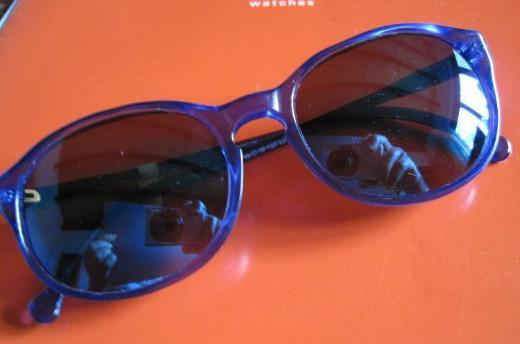 Damen-Sonnenbrille, ozeanblau, Spiegelungseffekt, neu