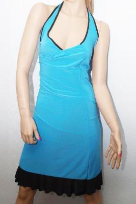 """Minikleid – Party Sommer & Abend Kleid """"blau/schwarz"""" Gr.34/38"""