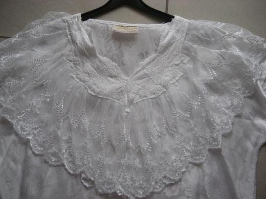 Damen Bluse, Top mit Spitze, weiß  von Cocos -