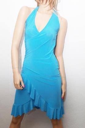 "Minikleid – Party Sommer & Abend Kleid ""blau"" Gr. 34/38"