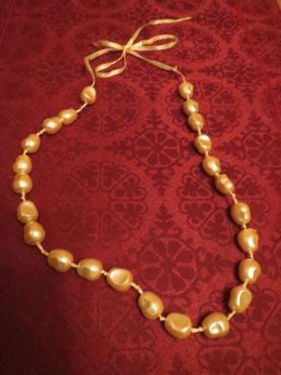 Perlenkette, Perlen, kurz, creme