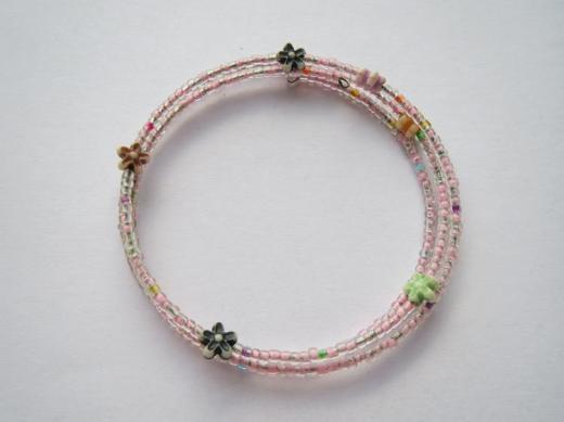 Armband, dehnbar, rosa, schön